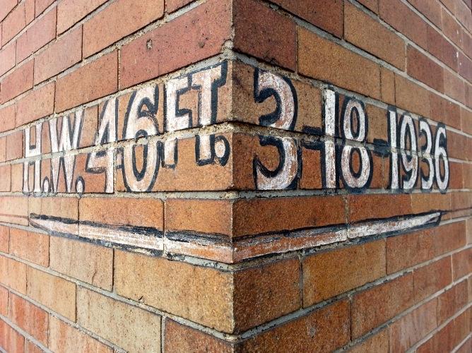 St. Patrick's Day Flood marker, Manchester