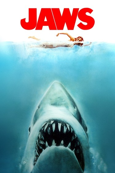 "Movie poster for the 1975 shark thriller ""Jaws"""