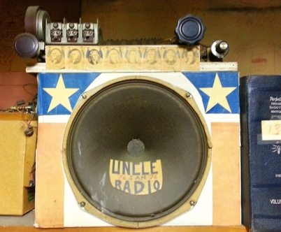 Handmade crystal radio with decorations
