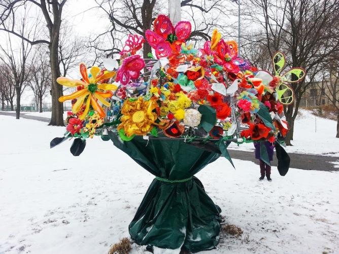 Pop des Fleurs test installation, Arsenal Park, Pittsburgh