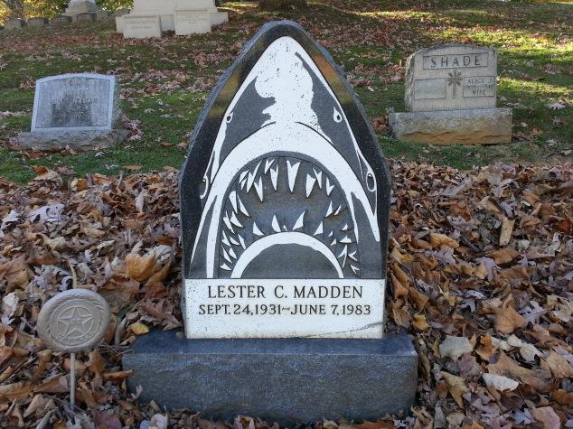 Shark grave marker, Allegheny Cemetery, Pittsburgh