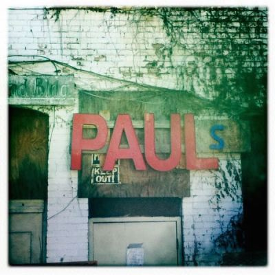 """PAULs"" letters on side of building in New Kensington, PA"