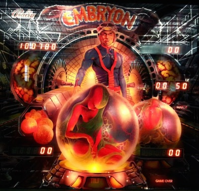Bally Embryon pinball machine
