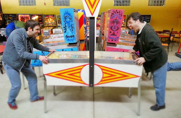 Unique head-to-head pinball action