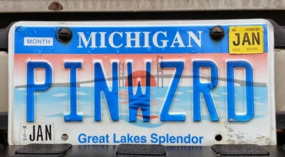 Michigan license plate PINWZRD