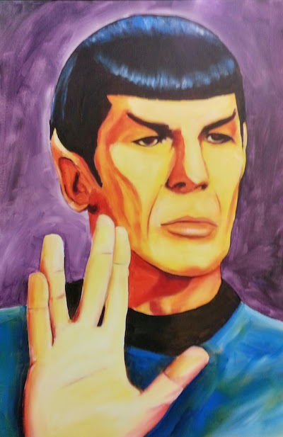 painting of Spock from Star Trek