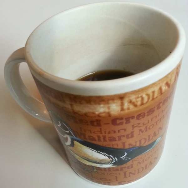 coffee mug with image of a duck