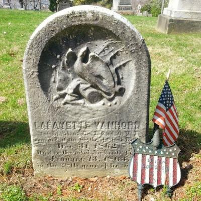 Union soldier grave marker, Union Cemetery, Steubenville, Ohio
