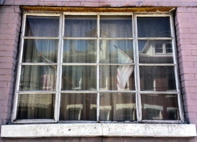 row house window art