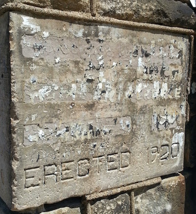 Cornerstone for former synagogue, Pittsburgh, Pa.