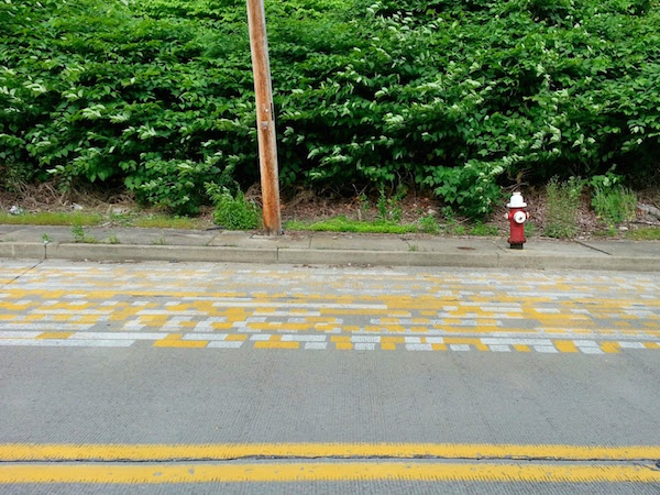 street with line painting tests, Pittsburgh, Pa.