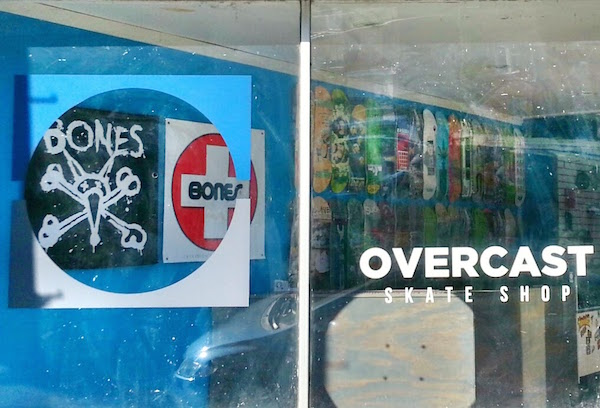 Windows for Overcast Skate Shop retail store, Pittsburgh, PA