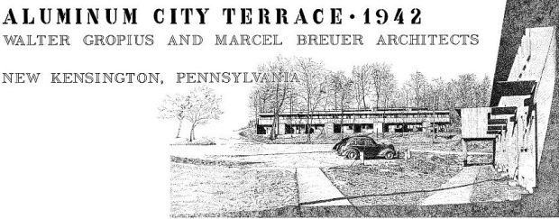 Original drawings for Aluminum City Terrace, 1942