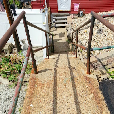 Jewel Street city steps in Pittsburgh, PA