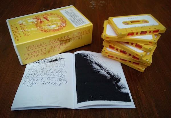 """Unread Records """"Public Coffin"""" 8 cassette single + book box set"""