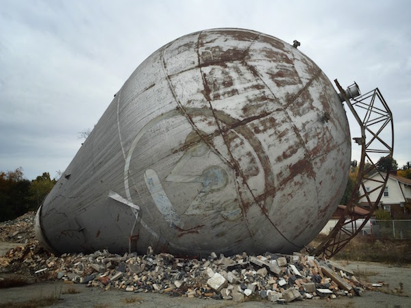 Atom smasher on its side at the former Westinghouse research facility, Forest Hills, PA