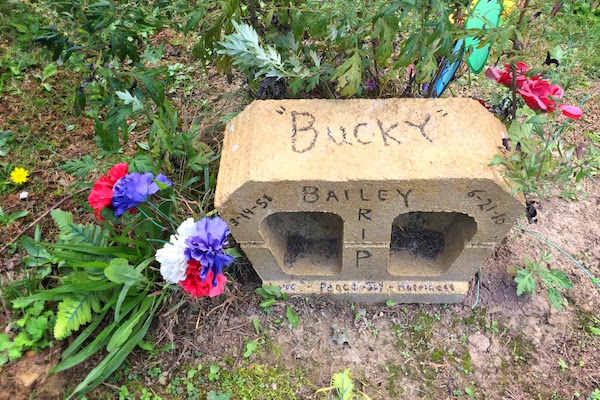 handmade grave made from cement block, Highwood Cemetery, Pittsburgh, PA