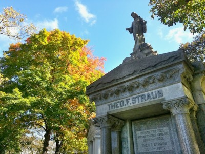 Theo F. Straub mausoleum, Homewood Cemetery, Pittsburgh, PA