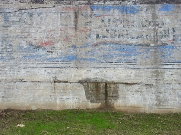 detail of faded ghost sign for Approved Lubrication, Pittsburgh, PA