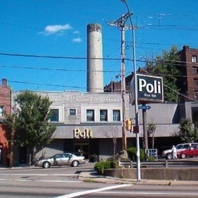 Poli restaurant in Pittsburgh, PA before the fire that destroyed it