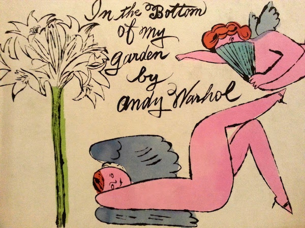 "Book cover for Andy Warhol ""In the Bottom of My Garden"""