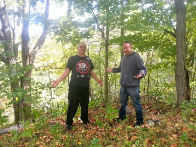 Bob and Mike Moskal in Monroeville woods