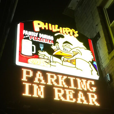 sign for Phillippi's Family Dining and Pizzeria, Natrona Heights, PA