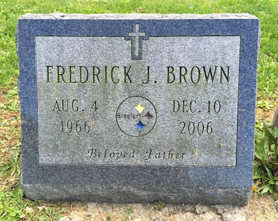 upright gravestone with Steelers logo, Highwood Cemetery, Pittsburgh, PA