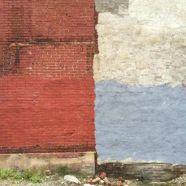 brick wall with loose bricks