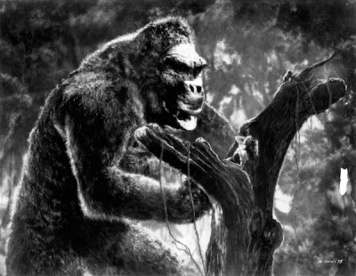 image of King Kong terrorizing actress Fay Wray in the 1933 movie still