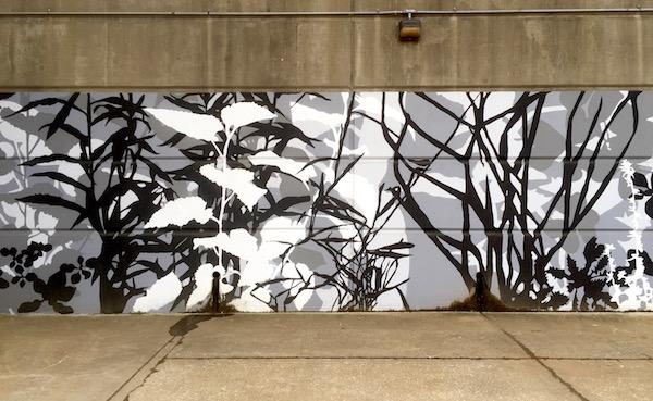Adjutant mural, downtown Pittsburgh river walk