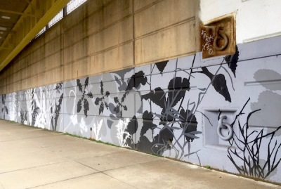 Adjutant mural, downtown Pittsburgh river walk