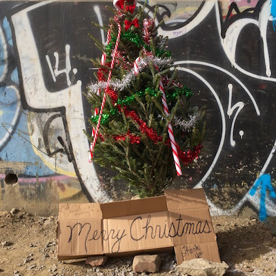 Allegheny River trail Christmas tree #2 (under 31st Street Bridge)