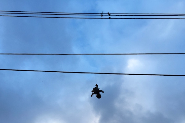dangling baby silhouette w wires
