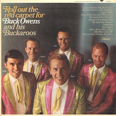 """Buck Owens """"Roll out the red carpet for"""" LP cover"""