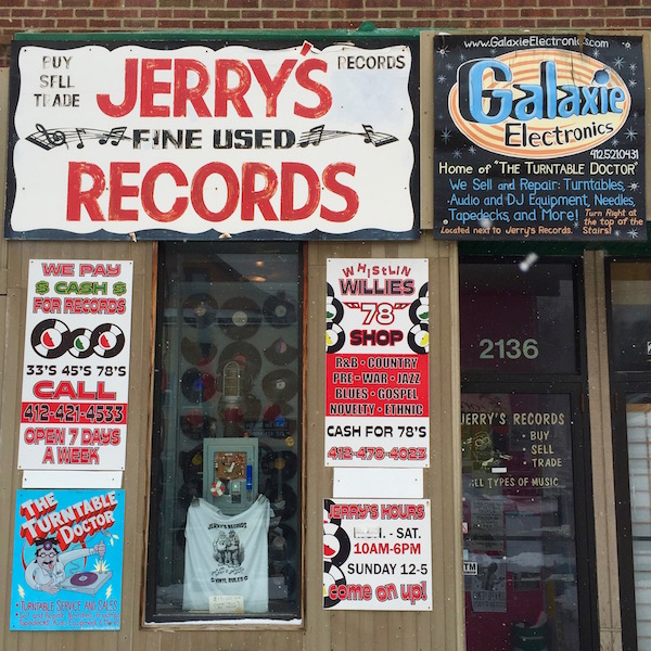 Jerry's Records storefront, Pittsburgh, PA