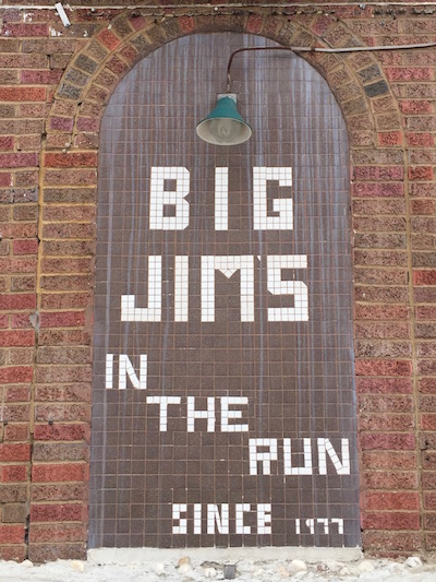 Tile sign for Big Jim's in The Run, Pittsburgh, PA