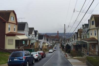 View down Dunsieth Street, Pittsburgh, PA