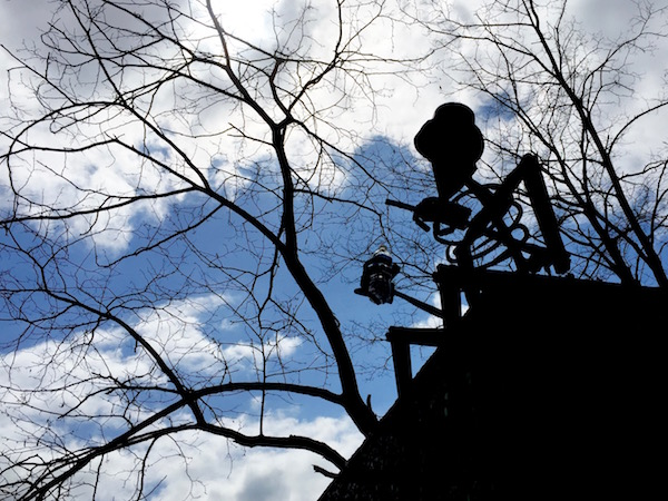 Silhouette of the Polish Hill troll, Pittsburgh, PA