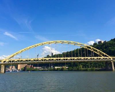 Fort Pitt Bridge over the Monongahela River, Pittsburgh, PA