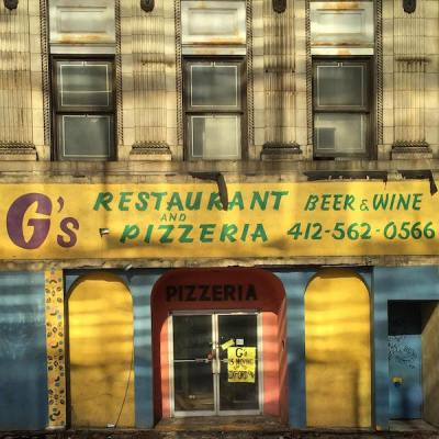 Former storefront for G's Restaurant and Pizzeria, Pittsburgh, PA