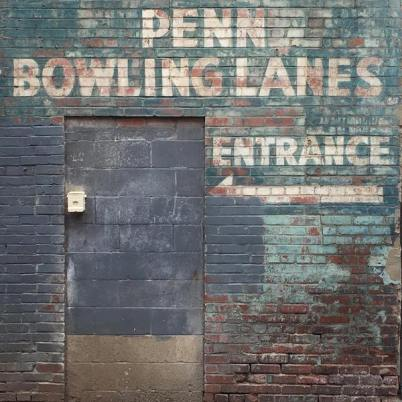 ghost sign for former Penn Bowling Lanes, Pittsburgh, PA