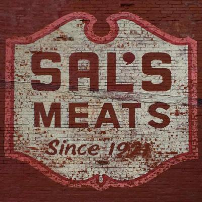 "ghost sign reading ""Sal's Meats Since 1921"", Ambridge, PA"