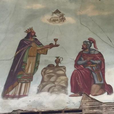 Holy Trinity - mural lamb