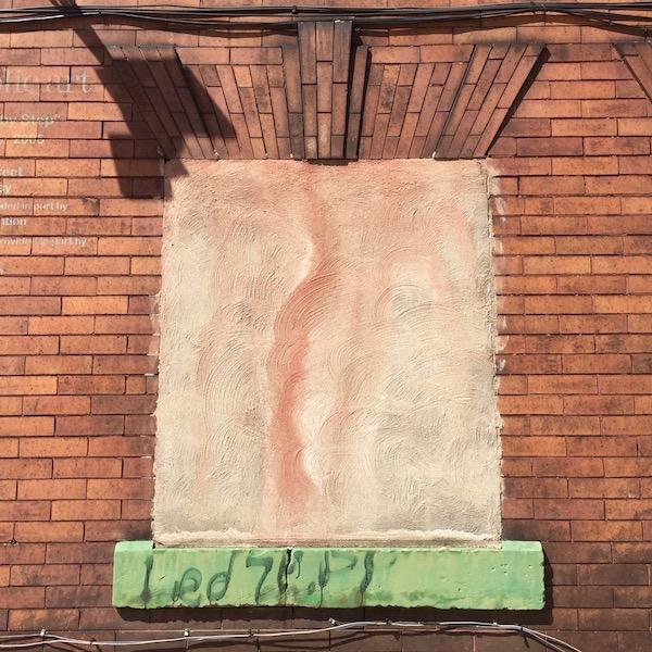 """masonry window sill with graffiti """"Led Zepp"""", Pittsburgh, PA"""