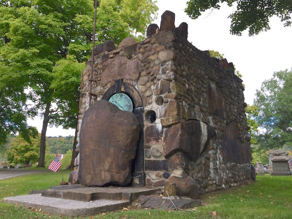 James P. Leaf mausoleum in Beaver Cemetery, Beaver, PA