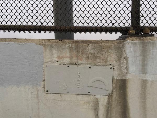 protractor glued to Bloomfield Bridge, Pittsburgh, PA