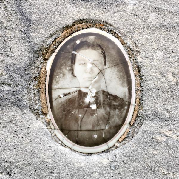 detail of ceramic photograph on headstone for Antonija Komlenić, Loretto Cemetery, Pittsburgh, PA