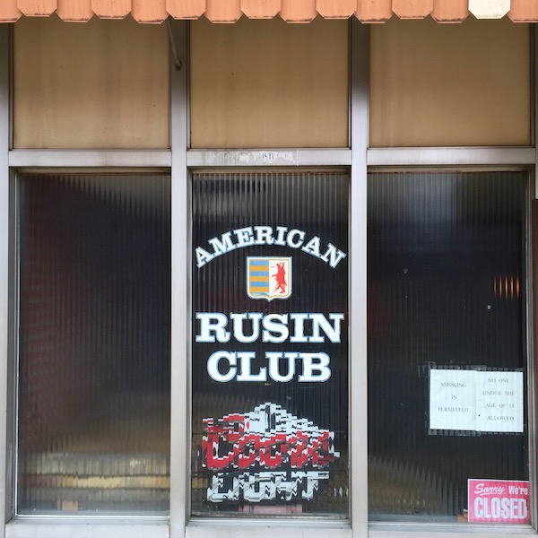 beveled glass windows for American-Rusin Club, Donora, PA