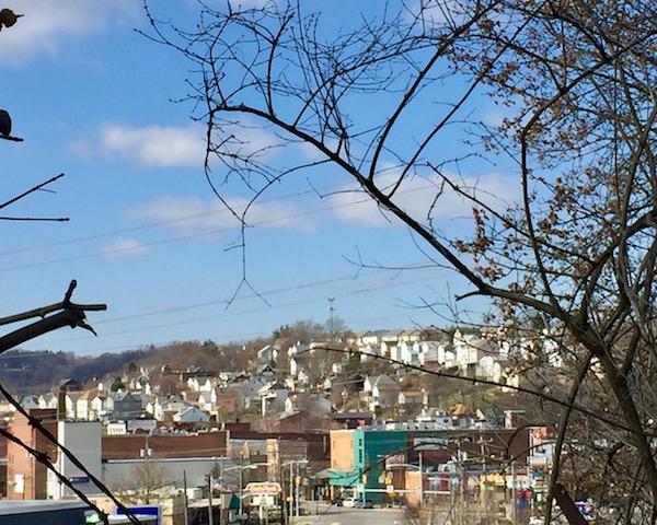 view of McKees Rocks, PA from Pittsburgh neighborhood of Esplen